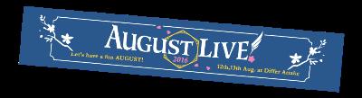 2.AUGUST LIVE! 2016 マフラータオル